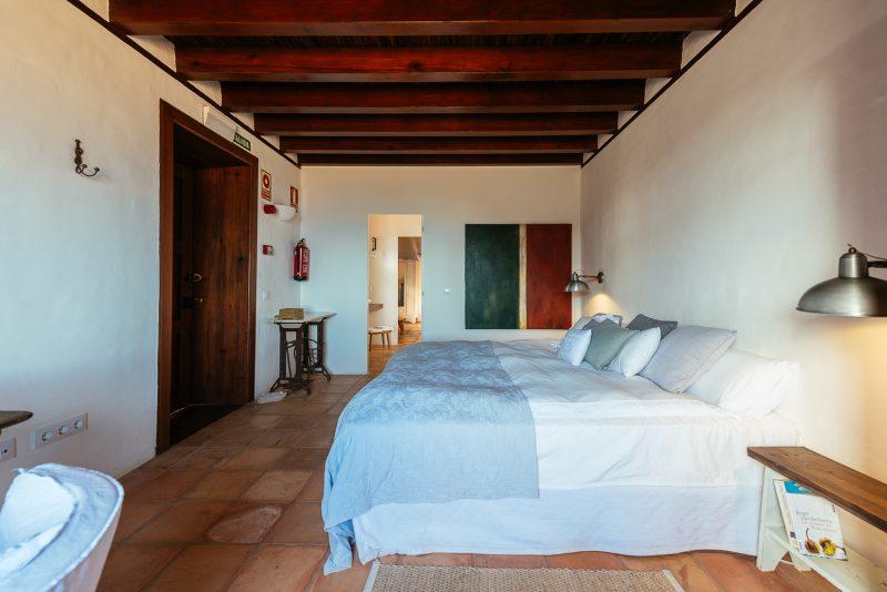 Dormitorio de la casa de Los Corrales. Las Casas del Camino Real